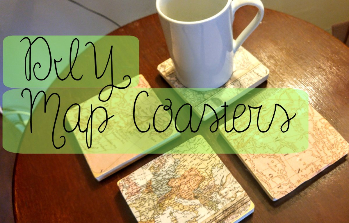 DIY Map Coasters!